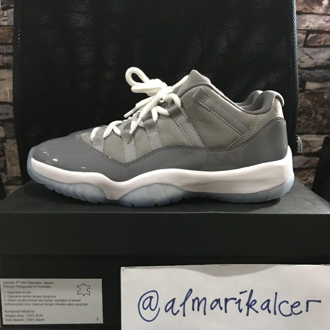 new style 2f5b0 82bfe Nike air jordan xi 11 retro low cool grey us 9 42,5 vvnds original, Men s  Fashion, Men s Footwear, Sneakers on Carousell