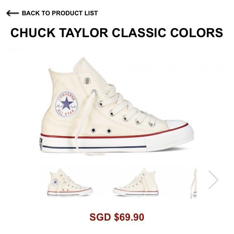 White High Cut Converse Chuck Taylor
