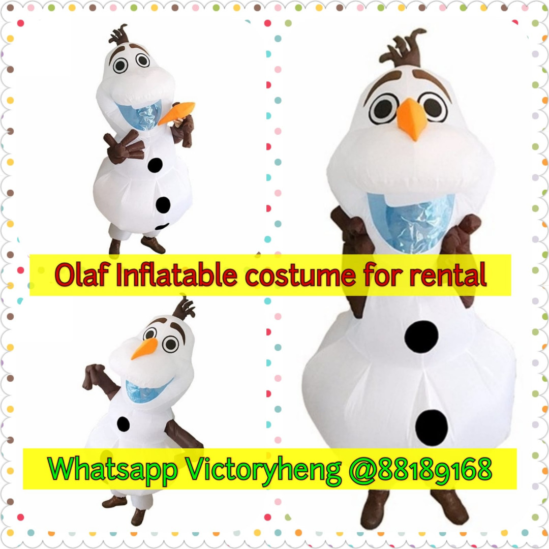 Olaf Inflatable Costume for rental, Entertainment, Events & Concerts ...