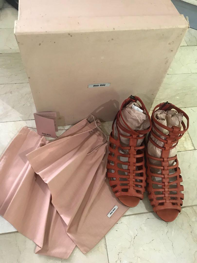 42cacc1aea4 OPEN FOR LAYAWAY Authentic MIU MIU Gladiator Sandals