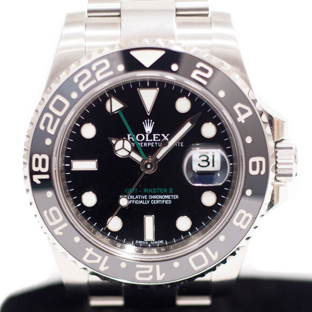 071964713be Preowned Rolex GMT Master II Ceramic 116710LN