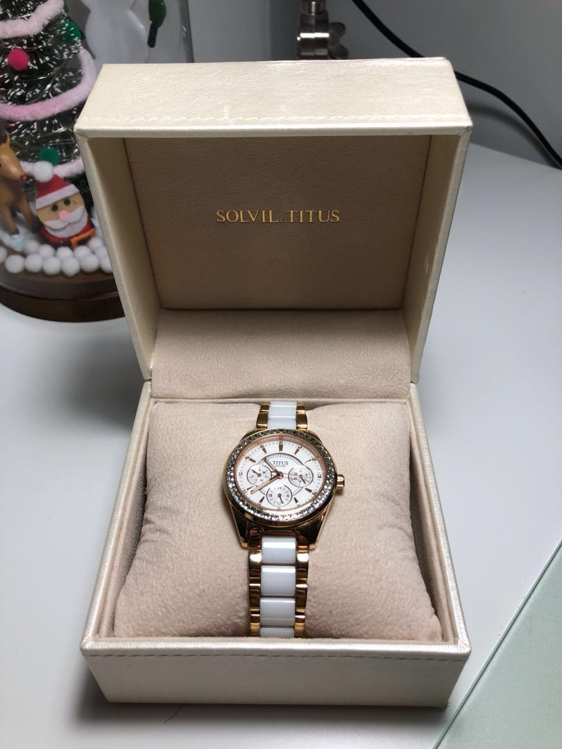 500065c41 Solvil and Titus Women Ceramic, Women's Fashion, Watches on Carousell