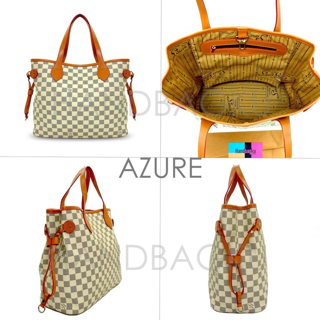 TAS LV NEVERFULL DAMIER GROSIR fashion wanita branded import batam murah  tote bag d6d5e0a7c7