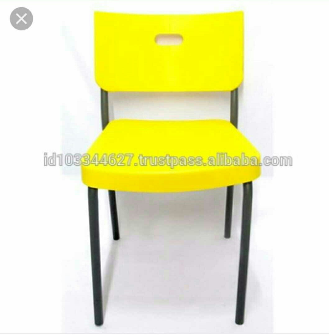 Stackable Plastic Chairs Inside Used Stackable Plastic Chairs With Metal Legs Furniture Tables u0026 Chairs On Carousell