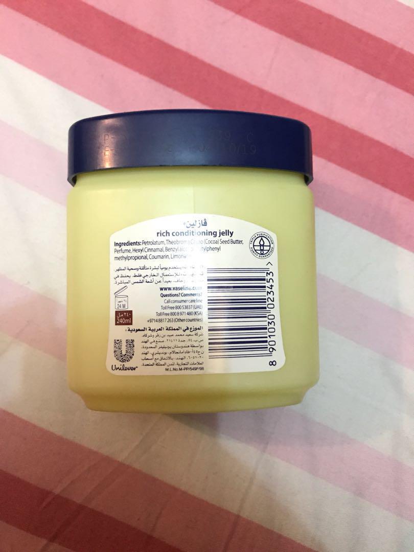 Vaseline petroleum jelly original arab 240ml, Health