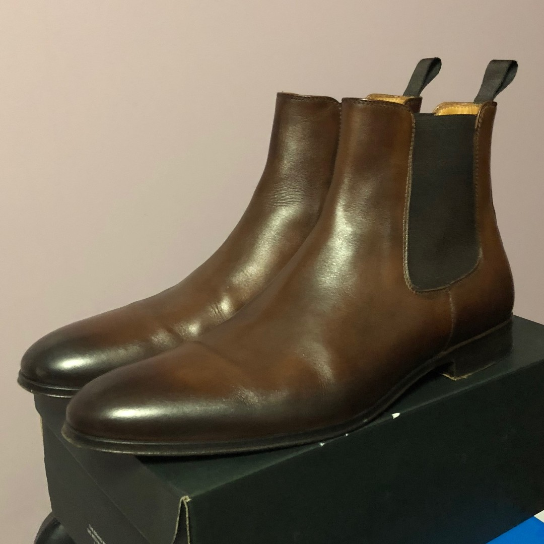 bba62df8bc08 WTS  US 11 Arthur Knight Antique Tan Brown Mens Chelsea Boots