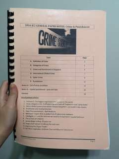 A Level GP Crime and Punishment