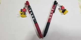 暗殺教室 左:黑色原子筆,右:原芯筆