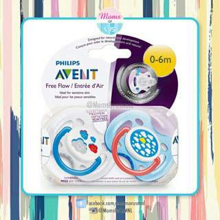 """‼️RESTOCK‼️ AVENT Free Flow Pacifier (0-6m) """"CLOUDS"""""""