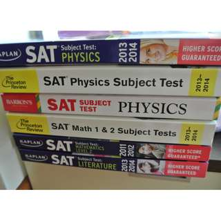 Various SAT and Subject Tests books