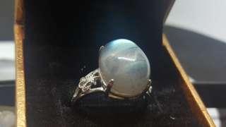 Labradorite Cabochon Silver Ring