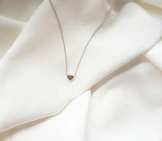 Heart neklace silver