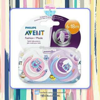 "‼️RESTOCK‼️ AVENT ""FASHION MODE"" Pacifier 6-18m (OWL/MOON)"