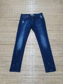 Levi's classic straight skinny ripped jeans