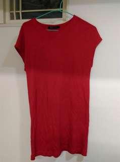 🚚 正紅色長洋裝