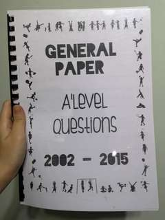 A Level GP Questions from 2002-2015