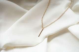 Metal bar neklace gold