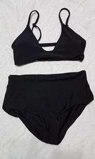 High-Waist Swimsuit (Black)