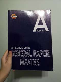 A Level GP Effective Guide General Paper Master