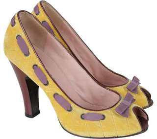 Marc Jacobs Yellow Suede Heels