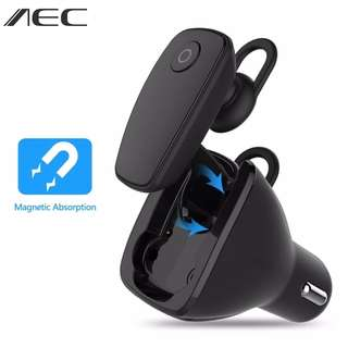 🚚 AEC Multifunction Wireless Bluetooth 4.1 Earphone+Car Charger 2-in-1 (Pre-order)