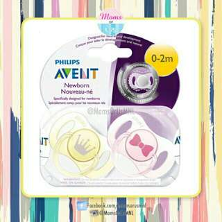 "‼️RESTOCK‼️ AVENT Mini Pacifier ""NEWBORN"" 0-2m GIRL"