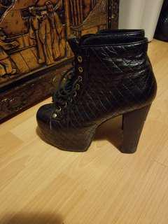 JEFFREY CAMPBELL  ankle heel boots