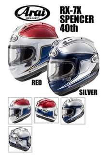 Arai RX7X Spencer 40th Anniversary limited