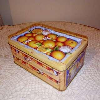 Orange Tin box
