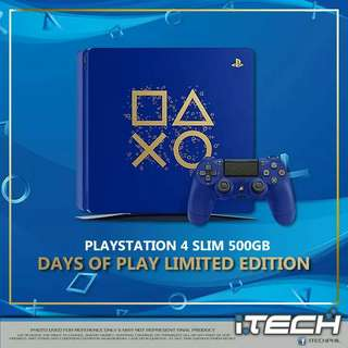 "Playstation 4 SLIM 500GB ""Days of Play Limited Edition"""