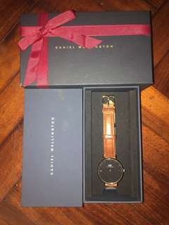 DW啡色手錶