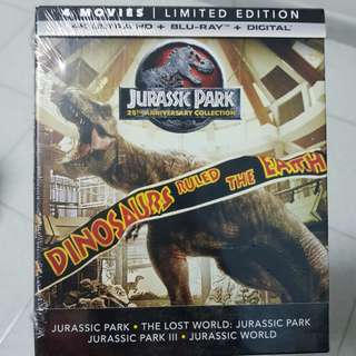 Jurassic Park 25th Anniversary Digipack (4 Movies)