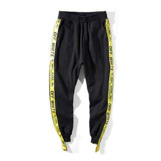 Off White Ribbon Trackpants