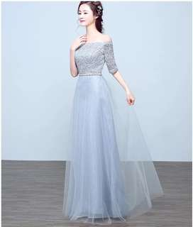 Evening Gown in Grey