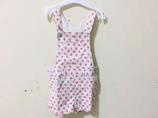 Hnm baby strawberry overall