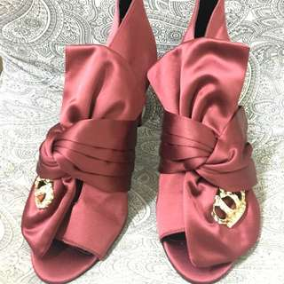 Juicy Couture Red Satin Heel