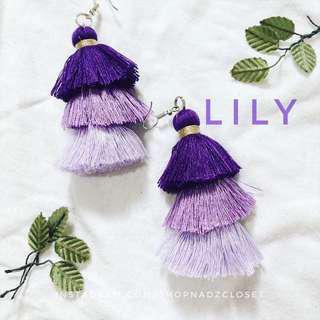 LILY - 3 tiered tassel earrings