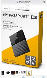 My Passport Hard Drive for Mac 1T
