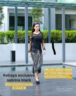 KEBAYA EXCLUSIVE SABRINA BLACK