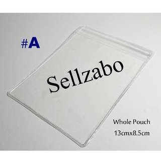 13cm x 8.5cm : 1 Pc : PVC : Zip Lock Bags : Thick : Plastic : Store : Storage : Sell : Sellers : Selling : Small : Items : Stuff : Accessories : Use : Keep : Organize : Stationery : Stationeries : See Through : Clear Colour : Sellzabo