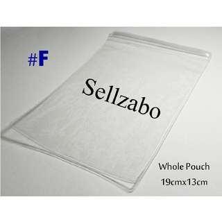 19cm x 13cm : 1 Pc : PVC : Zip Lock Bags : Thick : Plastic : Store : Storage : Sell : Sellers : Selling : Small : Items : Stuff : Accessories : Use : Keep : Organize : Stationery : Stationeries : See Through : Clear Colour : Sellzabo