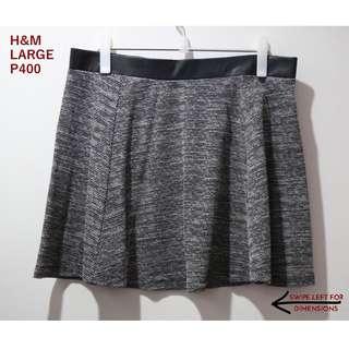 H&M Gray Skater Skirt