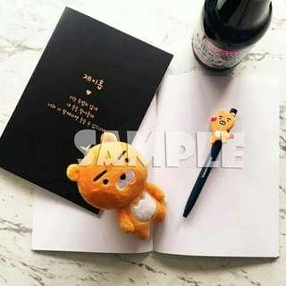 🚚 BTS號錫燙金筆記本