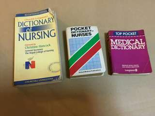 Offer! Assorted medical dictionary, references & pregnancy books. Text for quick deal!