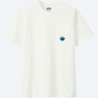 KAWS x SESAME STREET UT Cookie Monster 圖案 pocket tee uniqlo 芝麻街