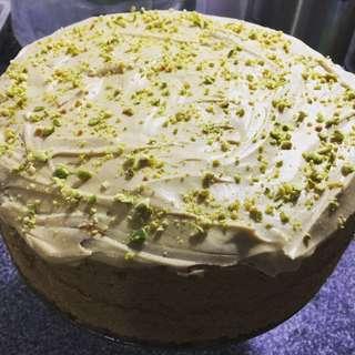 Pistachio Creamcheese Coffee Butter Cake