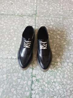 Zara sepatu sneakers oxford platform size 37