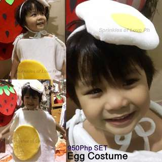 Egg Costume/ Nutrition Month Costume