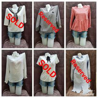 Korean Blouses (Preloved)