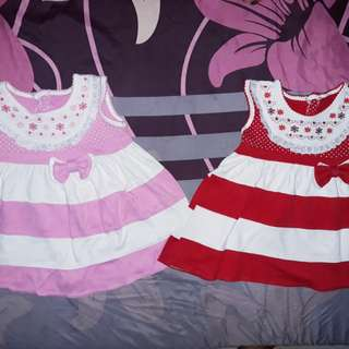 Dress Polkadot Pink & Red